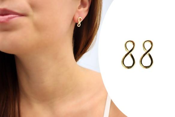 brinco+semi joia+simbolo do infinito+ouro+folheado+banhado+anna raquel acessorios+blog