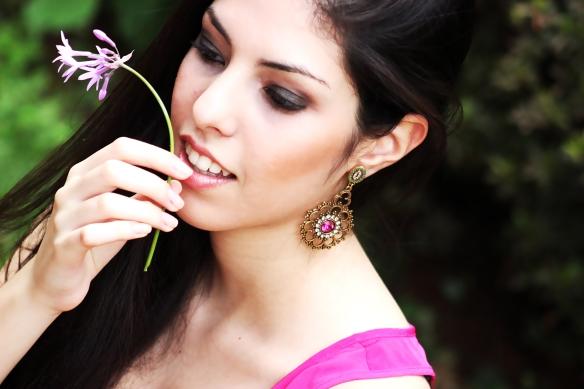 maxi brinco+pink+swarovski elements+verde esmeralda+indiano+boho styyle+anna raquel acessórios+lolitas acessórios+loja virtual+acessórios femininos+onde comprar+como comprar+close fechado4