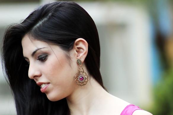 maxi brinco+pink+verde esmeralda+indiano+boho styyle+anna raquel acessórios+lolitas acessórios+loja virtual+acessórios femininos+onde comprar+como comprar